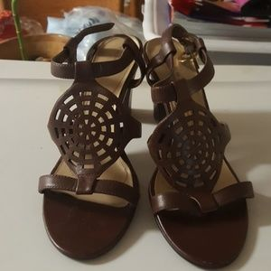 Tahari Brown Sandals.3 ins heel.